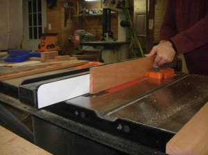 Re-sawing the drawer pieces
