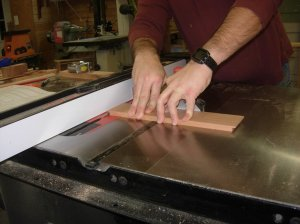 Cutting the rear drawer piece