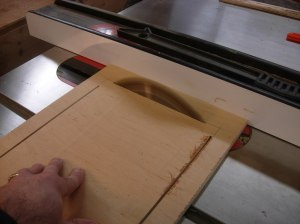 Raising the blade through the board