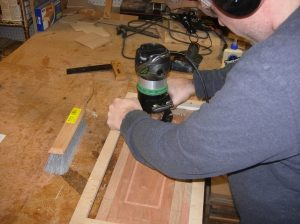 Cutting the face holes with the router