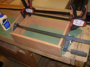 First drawer clamped up