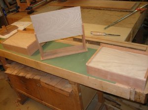 Adding the bottoms to the drawers