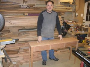 Rob is proud of his new table