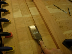 Cleaning up the mortise slot