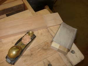 Planing and sanding tenons