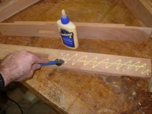 Glueing up the verticals