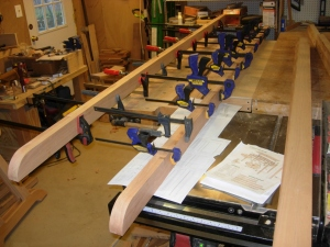 Glued up beams, now 10' long