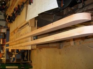 Top rails glued up