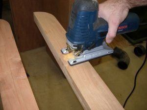 cutting the sides with my jig saw