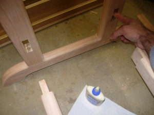 Base glue-up