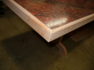 Shim planed and sanded