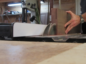 Starting the re-saw on the table saw