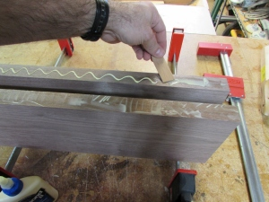 Glueing up the edges