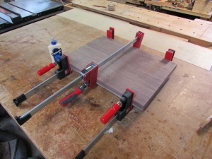 Panel clamped