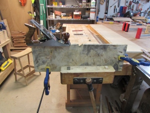 Jointing the edges of the veneer