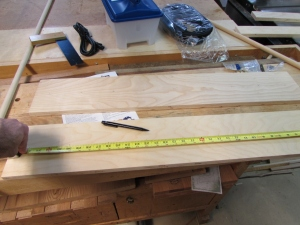 Laying out the dowel holes