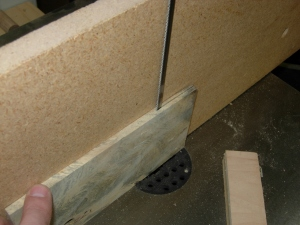 Re-sawing the veneer