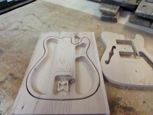 Bottom half carved