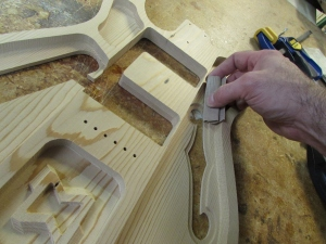 Sanding the F hole chamber