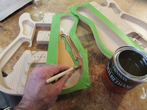 Applying a clear coat of polyurethane