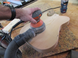 Sanding down to 220 grit