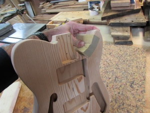 Final hand sanding