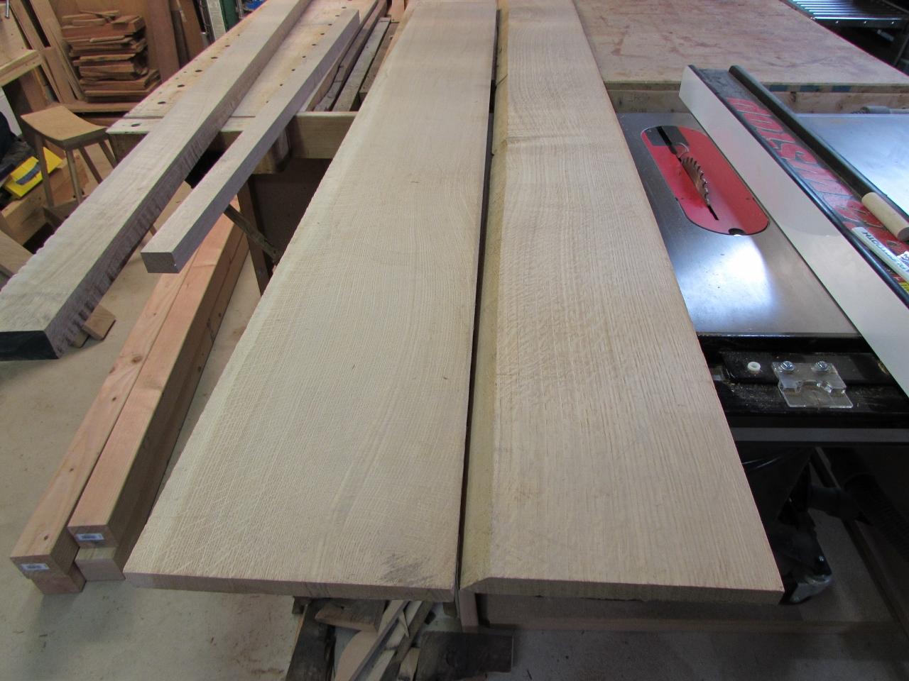 White Oak Park Bench Slats Midnight Woodworking