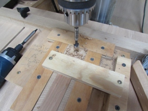 Drilling the counter-bores