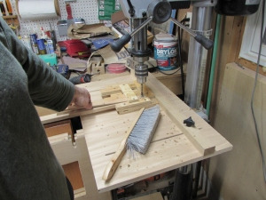 Drilling out the smaller slats