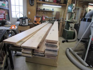 The wood for the next two projects