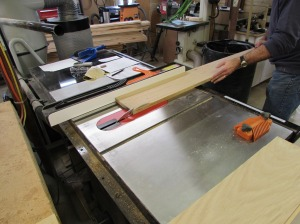Ripping the stock to width