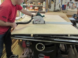 Ripping plywood down to size