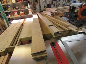 Trim boards all milled and ready for molding