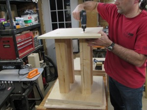 Assembling the top to the support posts