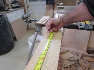 Marking all the trim pieces about 24.5""