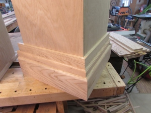 Butt the miters at the corners