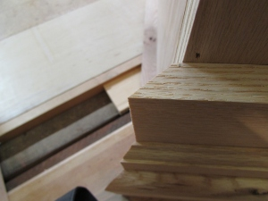 I cut the miters long and work back