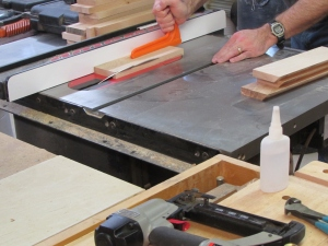 Cutting the 45 degree miter an my verticals