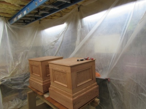 Spray booth set up in five minutes