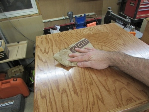 Final polishing with a paper bag
