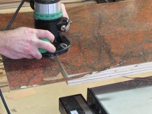 Flush trim routing the edges