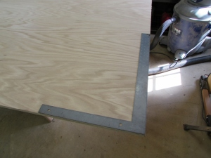 Checking plywood for square