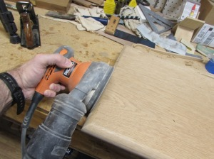 Sanding the rounded edges
