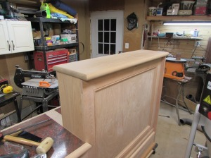 Upper counter top located