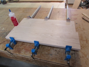 Glueing up the cabinet door panel