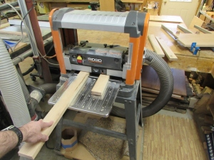 Cutting and planing the rails and stiles