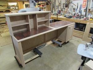 Desk construction complete