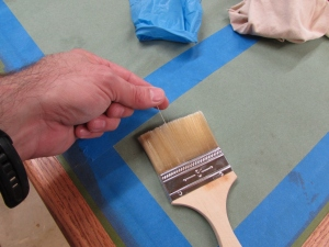 Removing the loose bristles