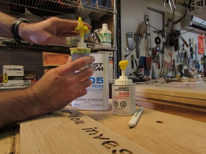 Mixing 2-part epoxy