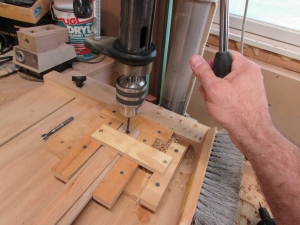 Drilling the through-hole
